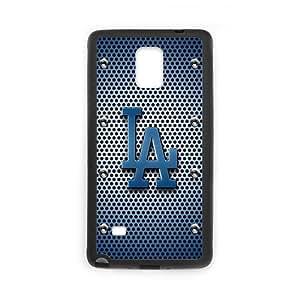 MLB Los Angeles Dodgers Samsung Galaxy Note4 Team Logo Case Retro Vintage Metal Style Pattern PC and Plastic Case WANGJING JINDA
