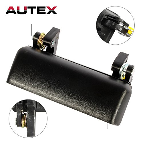AUTEX Black Exterior Outer Front Left Driver Side Door Handle for 1993-2002 Ford Ranger, 2003 Ford Ranger-Edge Submodel, 2003 Ford Ranger-XLT - Handle Ford Ranger Door