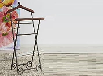 donregaloweb valet de nuit ciseaux de bois en fer forg et couleur teck vintage