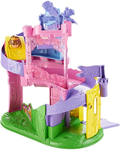 (Fisher-Price Little People Disney Princess, Wheelies Playset Doll)