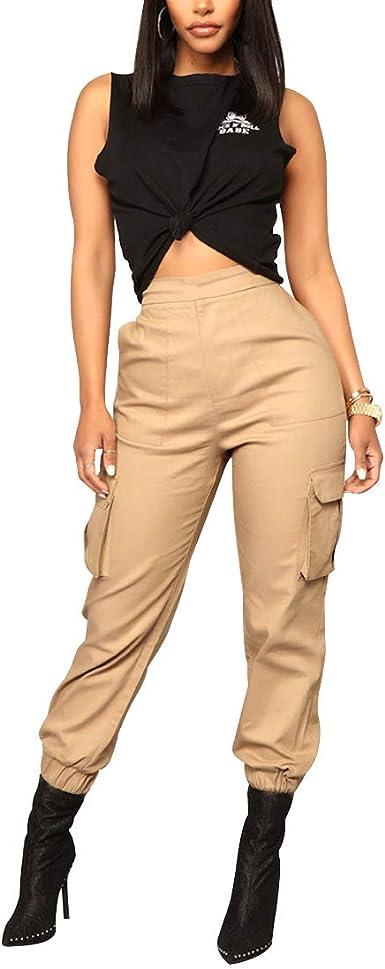 Mu Chaohai Pantalones Harem Para Mujer Monos Suaves Comodo Estilo De Novio Suelto Moda Cool Pantalones Casuales Para Mujer Amazon Es Ropa Y Accesorios
