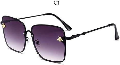 KCJKXC Abeja Cuadrados Retro Gafas De Sol Mujeres Marca Diseñador ...