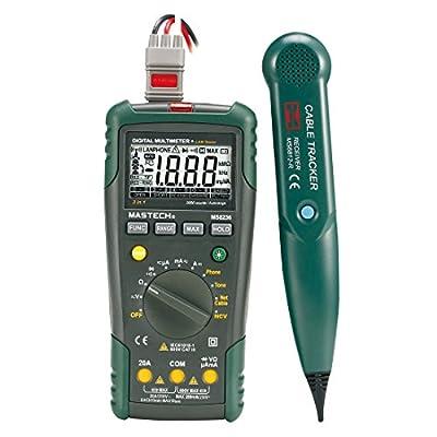 MASTECH MS8236 Autoranging Digital Multimeter LAN Tone Phone Detector Cable Tracker Voltage Tester