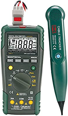 MASTECH MS8236 Autoranging Digital Multimeter LAN Tone Phone Detector Cable Tracker Voltage Tester - - Amazon.com