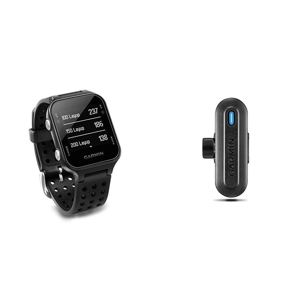 Garmin Approach S20 Golf Watch - Black and TruSwing Golf Club Sensor Bundle