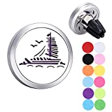 Sailing Boat Aromatherapy Essential Oils Car Diffuser Stainless Steel Locket