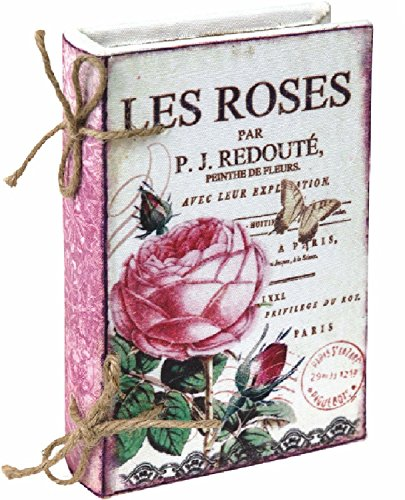 Flower Market French Roses Fabric Book Box - Parisian Wall Art