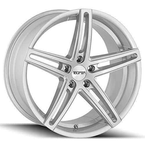 Touren TR73 Gloss Silver/Milled Spokes Wheel Finish (18 x 8. inches /5 x 120 mm, 35 mm Offset) (5 Spoke Rims Bmw)