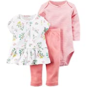 Carter's Baby Girls' 3 Piece Floral Set (Baby) - Pink - 3M