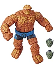 Marvel Legends Series Fantastic Four 6-inch Collectible Action Figure Marvel's Thing Toy, Premium Design, 1 Accessory 2 Build-A-Figure Parts