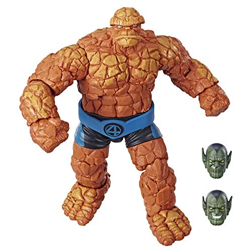 Marvel Legends Series Fantastic Four 6-inch Collectible Action Figure Marvel's Thing Toy, Premium Design, 1 Accessory 2 Build-A-Figure Parts from Marvel Classic