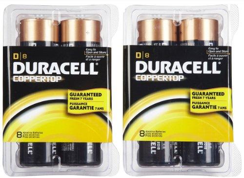 Duracell Coppertop D Batteries - 8 ct - 2 pk