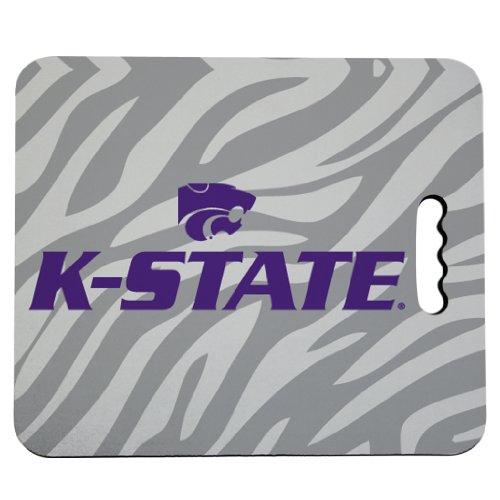 VictoryStore Outdoor Seat Cushions - Kansas State University Stadium Seat Cushion - Zebra Print Design