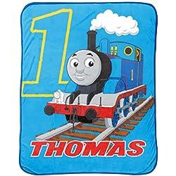 """Thomas the Tank Engine Go Go 46"""" x 60"""" Plush Fleece Throw Blanket"""