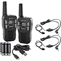(2) Cobra CX112 16 Mile 22 Ch FRS/GMRS Walkie Talkie Two-Way Radios w/ Headsets