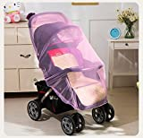 Mosquito Net Bug Net for Baby Strollers Infant Carriers Baby Cradle Ultra Fine Mesh Protection Against Mosquitos No Harmful Chemicals Help Baby Stay Away from Bugs (Pink)
