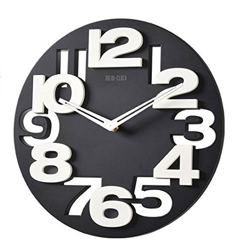 d8708d5eca65 GMMH 3 D con diseño Moderno Reloj de Pared de Cocina baduhr Oficina Reloj de  la decoración Tranquila 8808