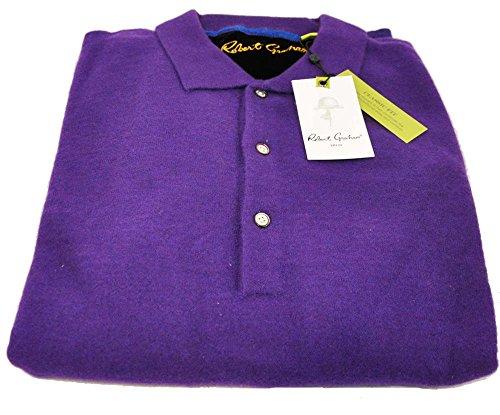 robert-graham-mens-medium-blackberry-long-sleeve-buttoned-pullover-sweater