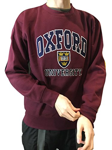 Sweatshirt Oxford - Oxford University Official Sweatshirt - Official Apparel of The Famous University of Oxford Burgundy