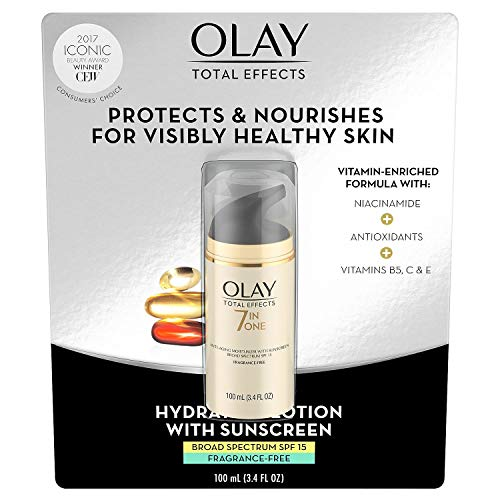 Olay Total Effects 7-in-1 Anti Aging Fragrance Free SPF-15 Large Size 3.4 fl oz! NEW ()