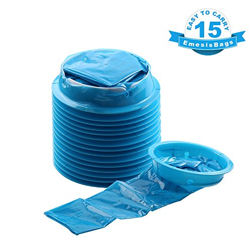 Emesis Bag, YGDZ 15 Pack Vomit Bags Disposable Barf Bags Car Puke Nausea Bags, 1000ml