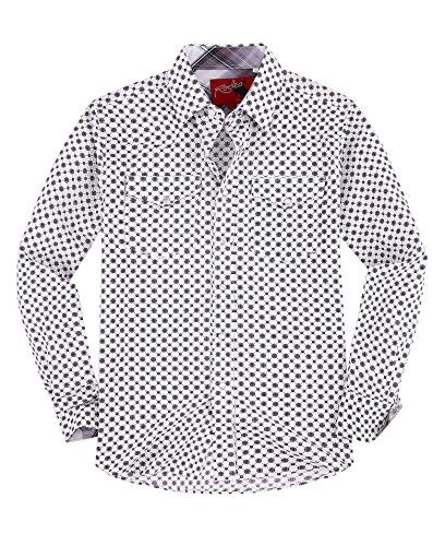 Rodeo Clothing Mens Casual Button Down Shirts Regular Fit Printed Western Shirt Grey171 XL ()