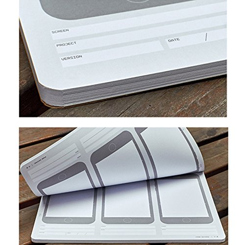 ZZ Lighting Novelty Creative iPhone 6 Draft Drawing Pad for App Design and UI Design (Sketch Pad+Stencil Kit+Pencil) by ZZ Lighting (Image #8)