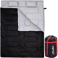 Ohuhu Double Sleeping Bag with 2 Pillows, Waterproof...