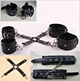 Hetam Adult Fantasy Sexy Cosplay SM Bondage Hand Wrist To Ankle Cuffs Restraints Toys