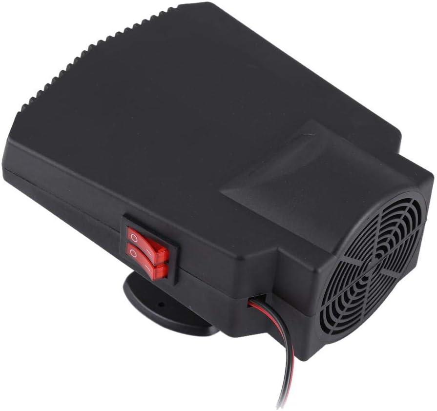 Calefactor de coche, 12 V descongelador de parabrisas desempañamiento rápido ventilador de descongelación con doble interruptor de aire caliente/frío sistemas de calefacción portátiles