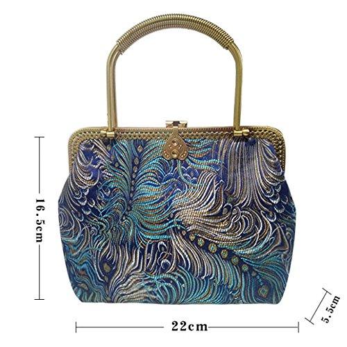 Sacs Messenger Main Sac Cheongsam Personnalité De à Bag Multicolore Sacs Sacs Mme Arts Mini Vintage azPffwxS