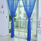 Gaddrt 1 Panel Pure Color Tulle Door Window Curtain Drape Panel Sheer Scarf Valances (L)
