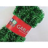 """Blue Green Novelty Green Foil Tinsel Christmas Garland 708"""" (59 Feet)"""