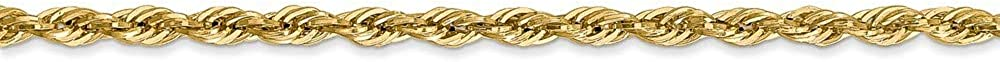 16 18 20 22 24 26 28 14k Yellow Gold Lobster Claw Closure Hollow Rope Chain Necklace Length Options