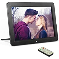 12-Inch Digital Photo Frame with High Resolution TFT Widescreen HD Picture/Music/video Display, Auto On/Off Timer, Calendar/Clock, Remote Control