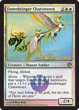 Magic: the Gathering - Dawnbringer Charioteers (6/165) - Prerelease & Release Promos - Foil