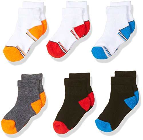 Fruit of the Loom Baby Boys Ankle 6 Pack Sock