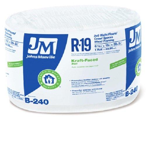 JOHNS MANVILLE INTL 990105 15'' x 39' R-19 Kraft-Faced Roll x R, 1 piece by JOHNS MANVILLE INTL