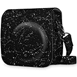 Fintie Protective Case for Fujifilm Instax Mini 9 / Mini 8 / Mini 8+ Instant Camera - Premium Vegan Leather Bag Cover with Removable Strap, Constellation