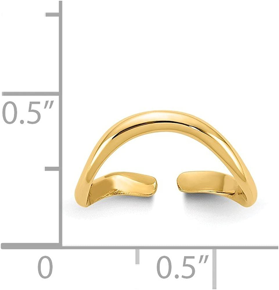 14K Yellow Gold Polished Toe Ring