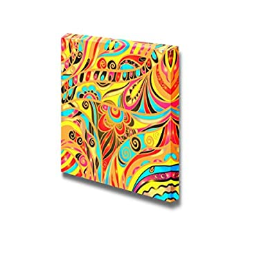 Canvas Prints Wall Art - Colorful Abstract Floral Pattern | Modern Wall Decor/Home Decoration Stretched Gallery Canvas Wrap Giclee Print & Ready to Hang - 16