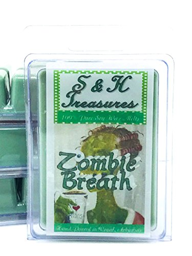 Zombie Breath - Pure Soy Wax Melts - Halloween Scents - 1 pack (6 cubes)]()
