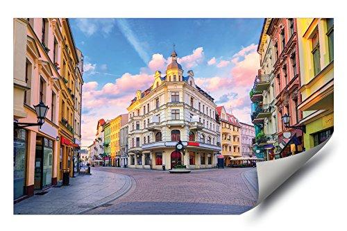 Squares Giclee Set - Torun Square Poland at Sunset HD Vinyl Wall Art Poster Decal Sticker