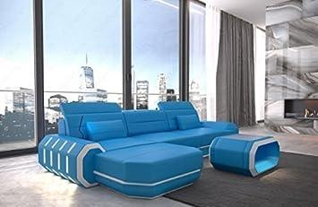 Sofá de diseño Roma en forma de l con iluminación LED ...