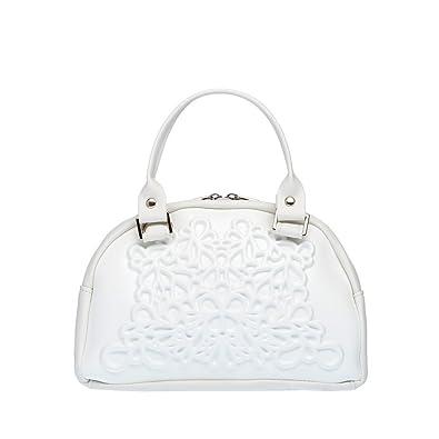 67a21964f284 Amazon.com  MeDusa Vegan Leather Handmade Lily Crossbody Bag (White)  Shoes