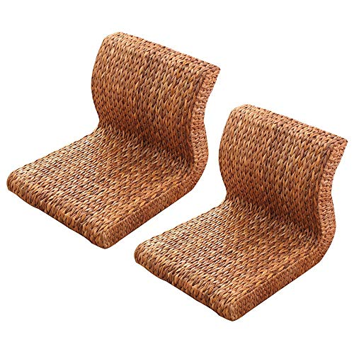 Tatami Rattan Floor Chair S-Shape Lazy Sofa Couch Loungers Game Chairs Backrest Chair for Office Living Room Bedroom Balcony Bay Window Chair (Color : B)