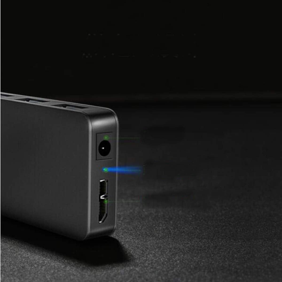 HUB Desktop Laptop One for Four USB Splitter High-Speed Expansion of 4-Port Hub Color : Black Corrosion Protection Hongyushanghang Hub Black