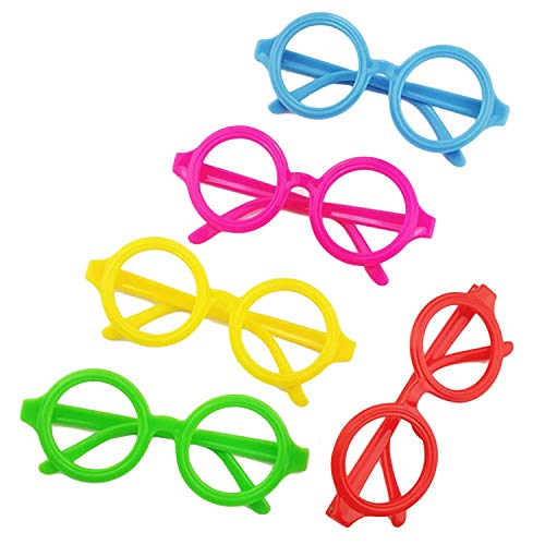 12pcs Cute Child Glasses Frame for Halloween Christmas Holidays Birthday Party Fun Gift Favors -