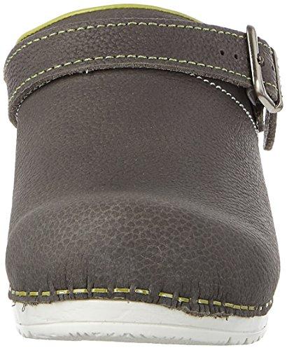 Sanita Mujeres Edna Open Leather Sandals Antracita