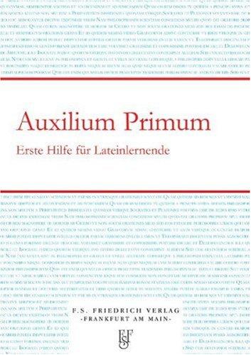 Auxilium Primum - Erste Hilfe für Lateinlernende